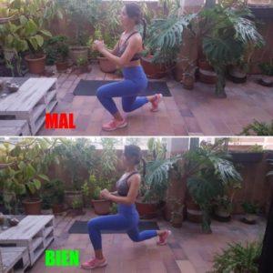 ejercicios para endurecer los gluteos zancada