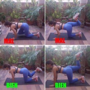 ejercicios para endurecer los gluteos patada